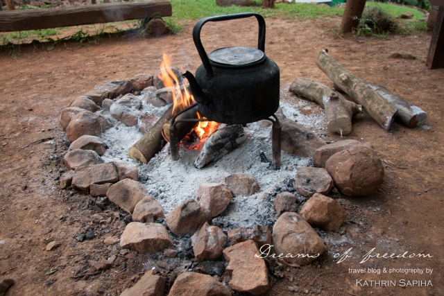 Coffee water on the fire - Ecabazini Zulu Village - South Africa