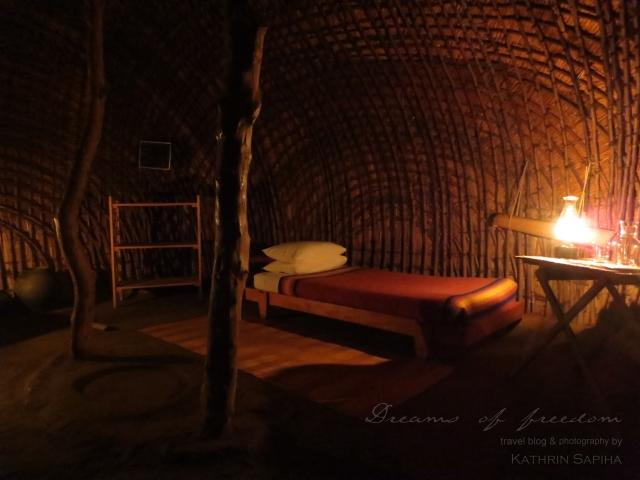 Inside the hut - Ecabazini Zulu Village - South Africa
