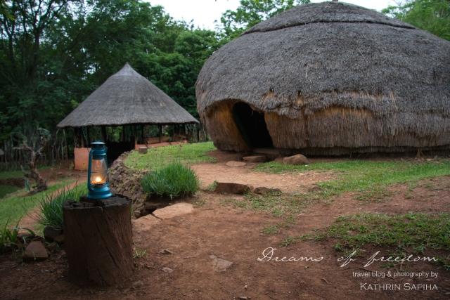 Hut in the Ecabazini Zulu Village - South Africa
