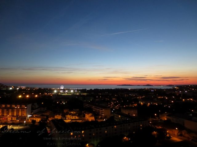 Sunset over Marseille, France - View from the Cité radieuse