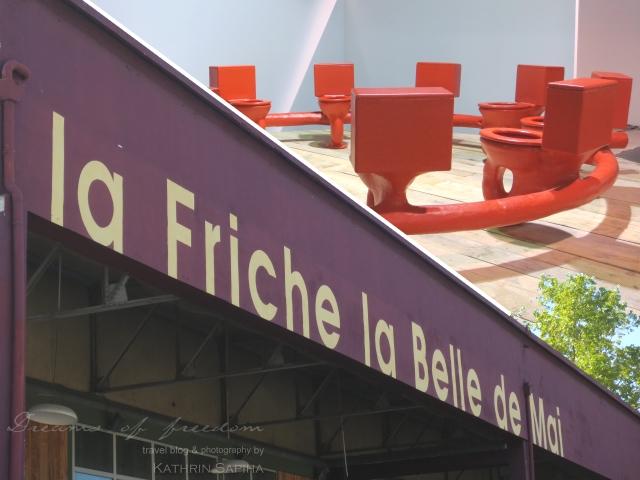 La Friche la Belle de Mai - Art piece with toilets - Marseille, France