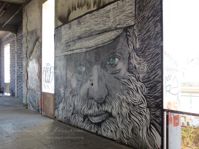 La Friche la Belle de Mai - Wall painting - Marseille, France