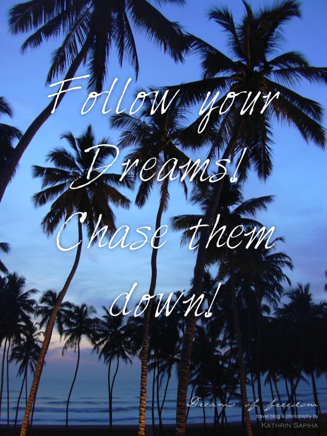 Follow your Dreams! Chase them down!
