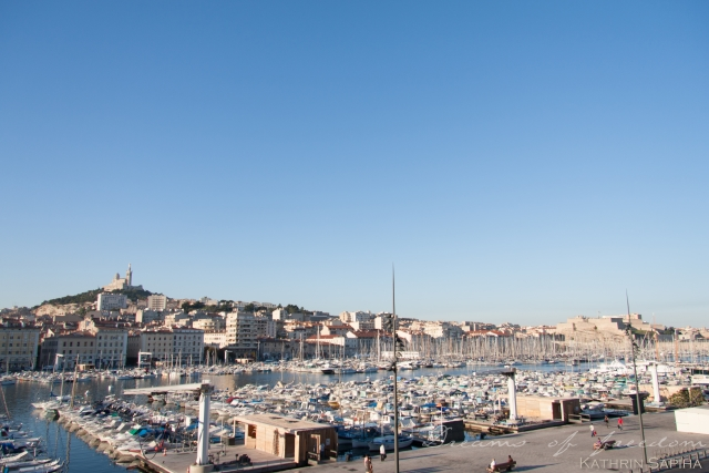 Marseille, Provence - France - Old Port and Notre Dame de la Garde