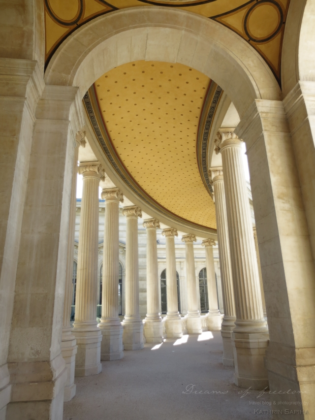 Marseille, France - Palais Longchamp - Pillars