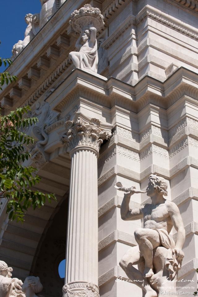 Marseille, France - Palais Longchamp - Statue