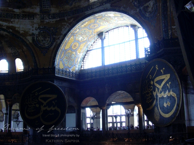 Inside the Hagia Sophia - Istanbul - Turkey