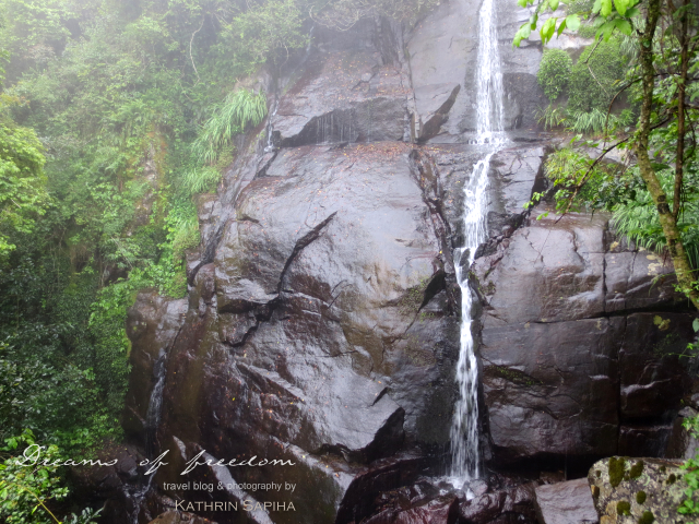 Waterfall in the South African jungle